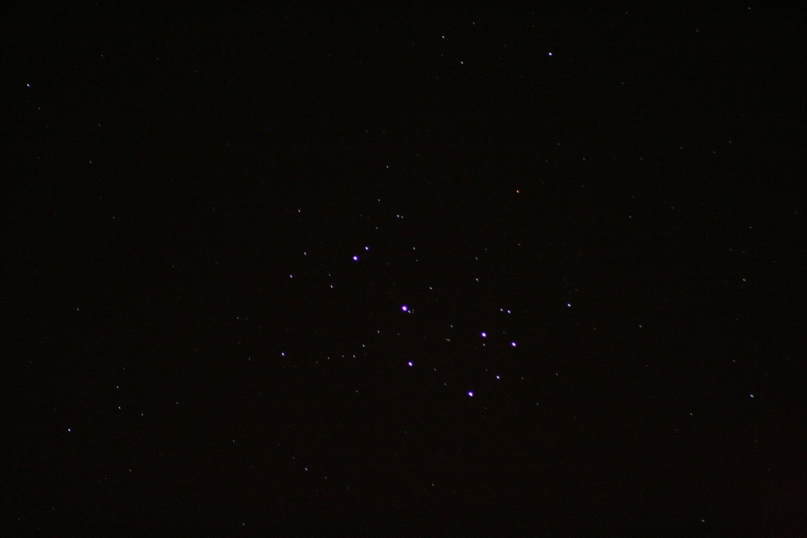 Pleiades with Canon Digital Rebel XT 300mm