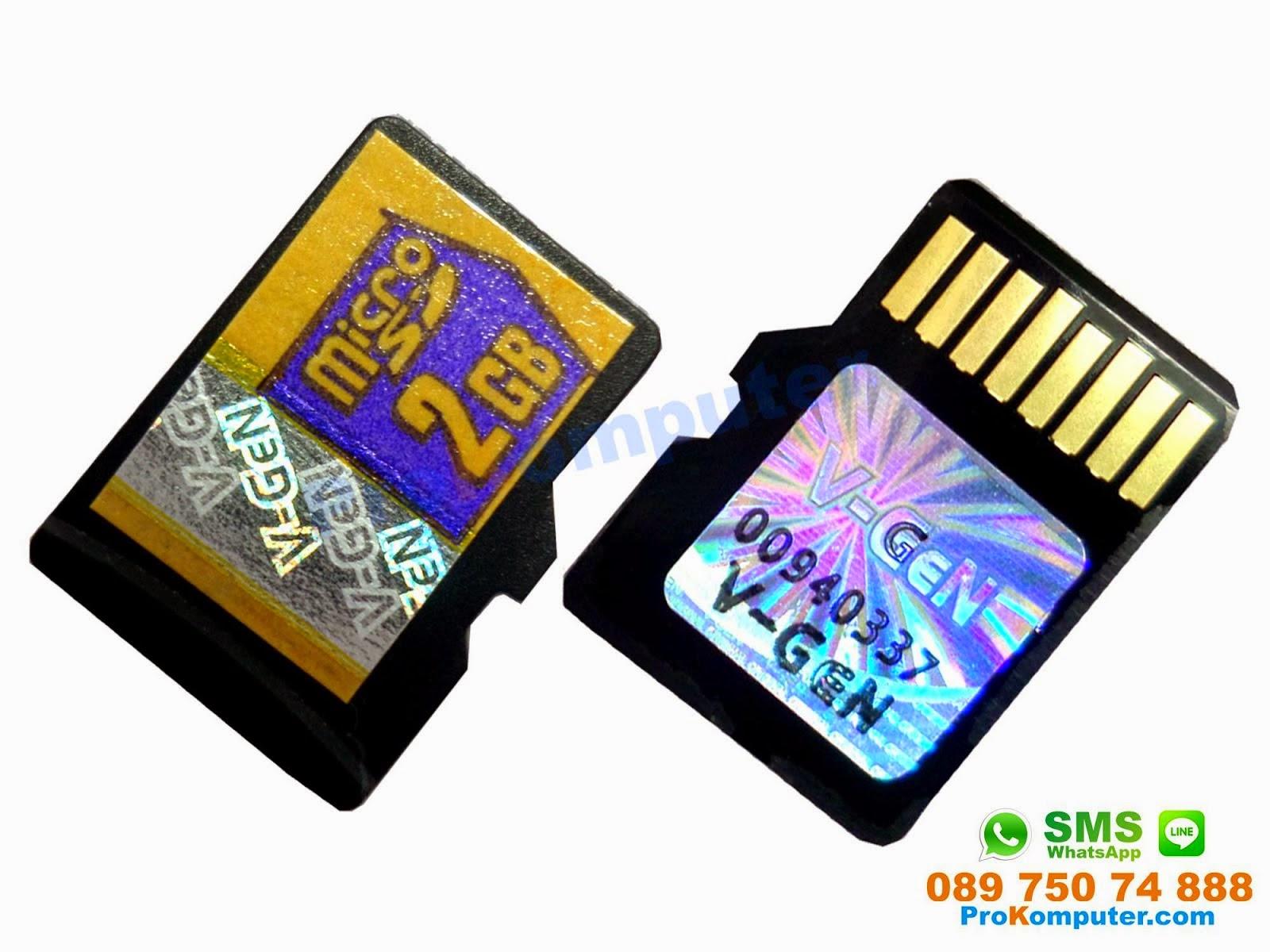 Prokomputer Micro Sd 2gb Vgen Tanpa Adapter Idm155x 29j2s 2 Gb