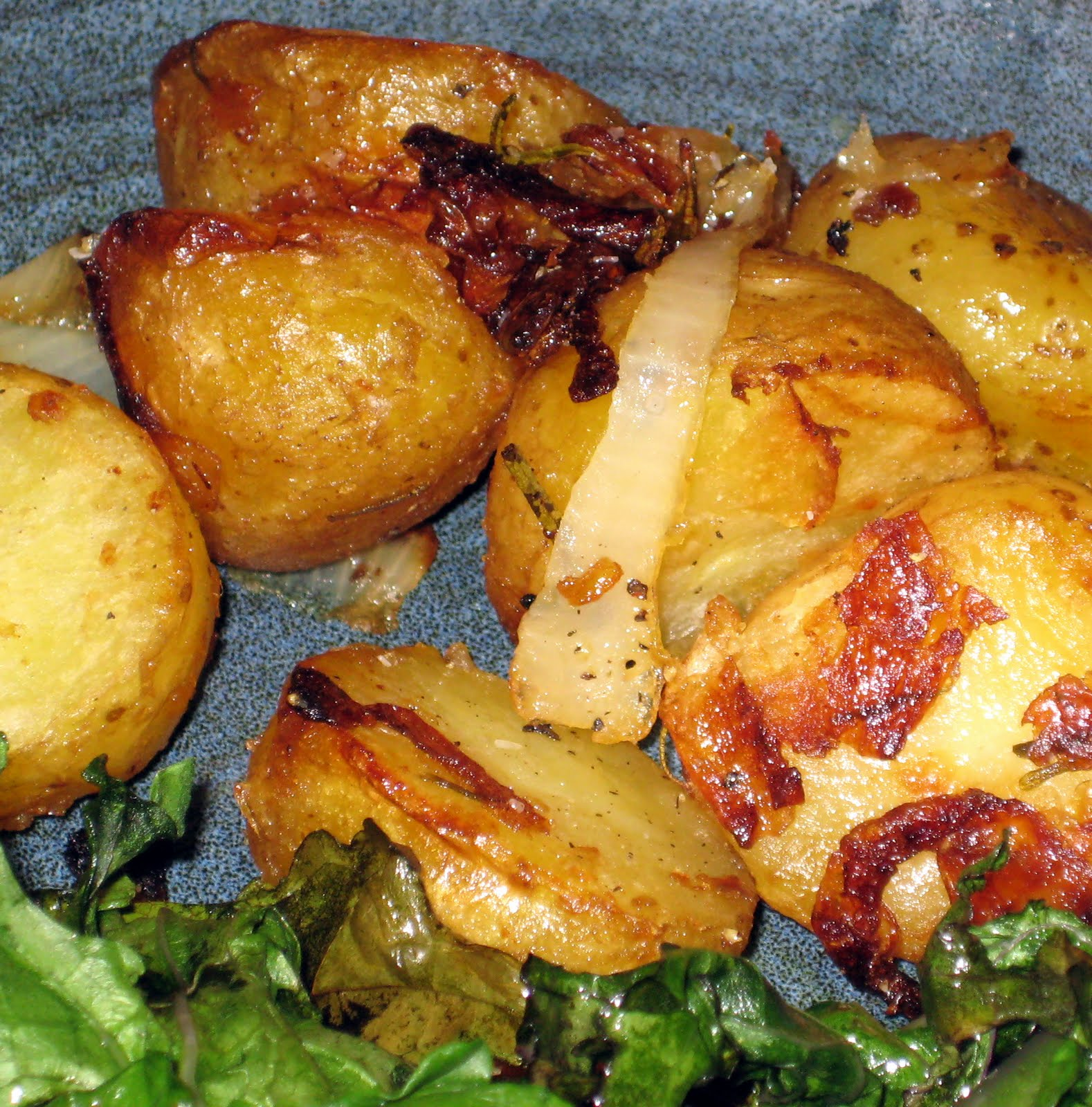 ... Food. Mostly Plants.: Roasted Rosemary Potatoes with Caramelized Onion