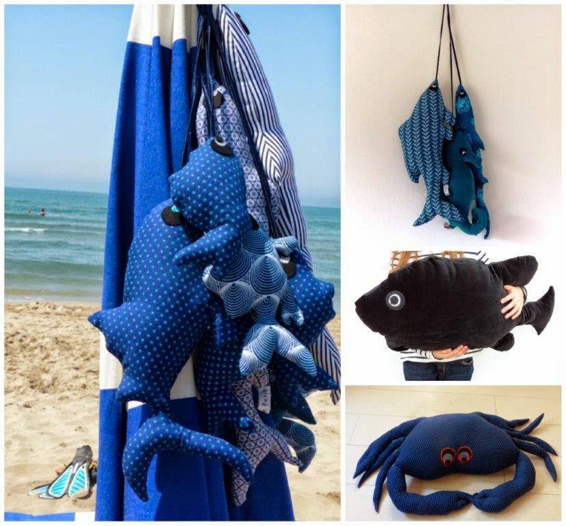 Collection poissons bleus - Les Curiosités de Fred