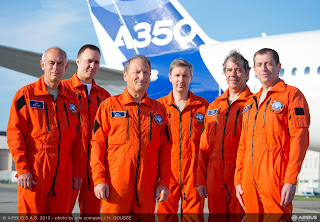 The talented crew behind Airbus A350's first flight [Photo: Airbus]