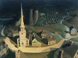 Grant Wood (40) - La cabalgata nocturna de Paul Revere (The Midnight Ride of Paul Revere, 1931)