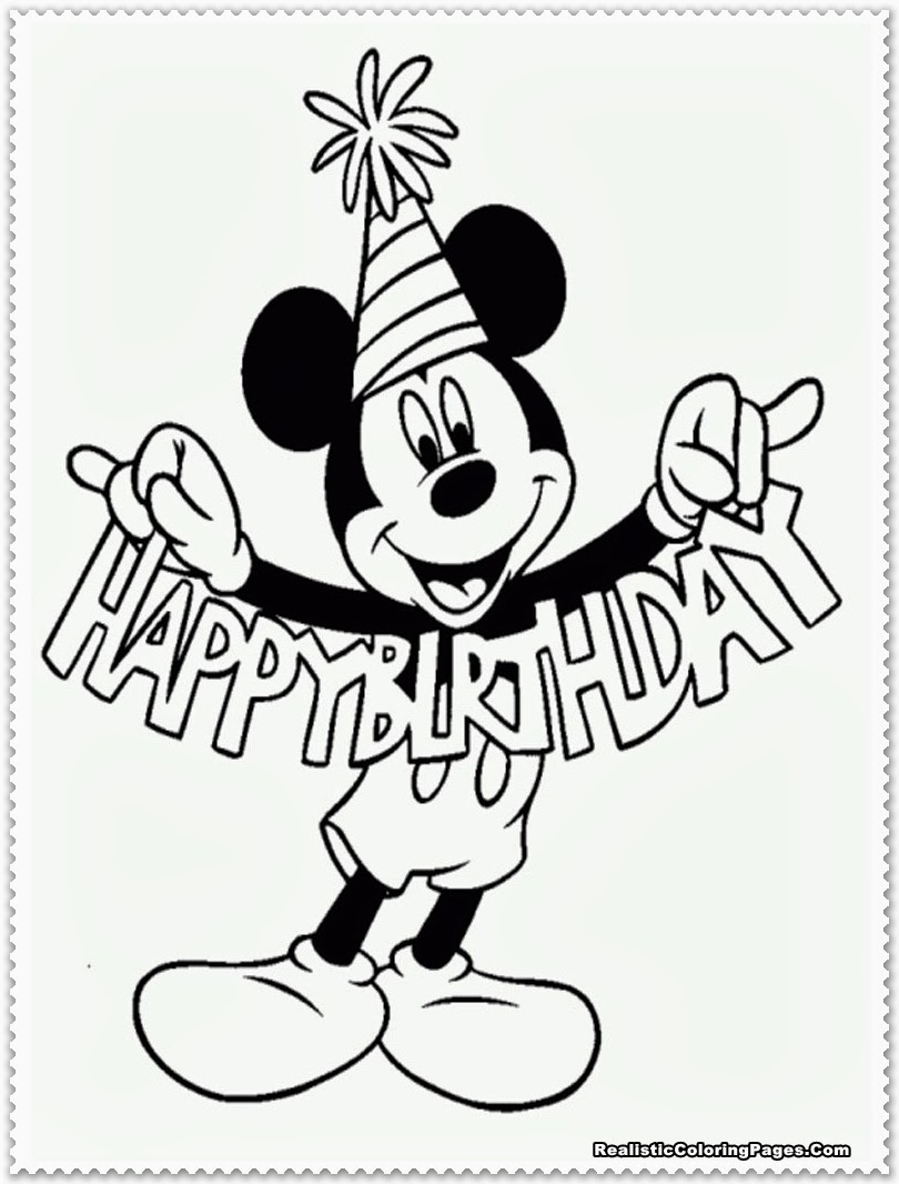 Mickey Mouse Coloring Pages Realistic Coloring Pages
