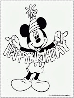 mickey mouse coloring pages birthday