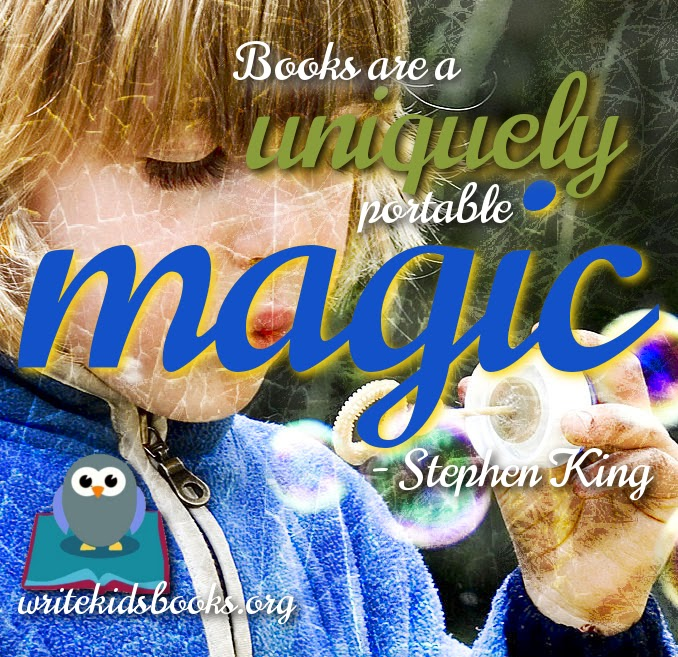 "inspirational quote ""Books are a uniquely portable magic."" – Stephen King"