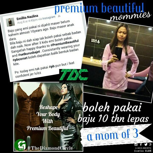 premium beautiful, hanis haizi protege, premium beautiful corset, body figure, post pregnancy, berpantang, korset, bengkung, slim, baby fat, women, byrawlins, murah, diskaun, cash rebate