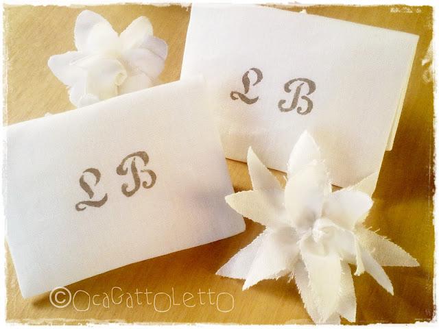 bustine portaconfetti lino con fiore