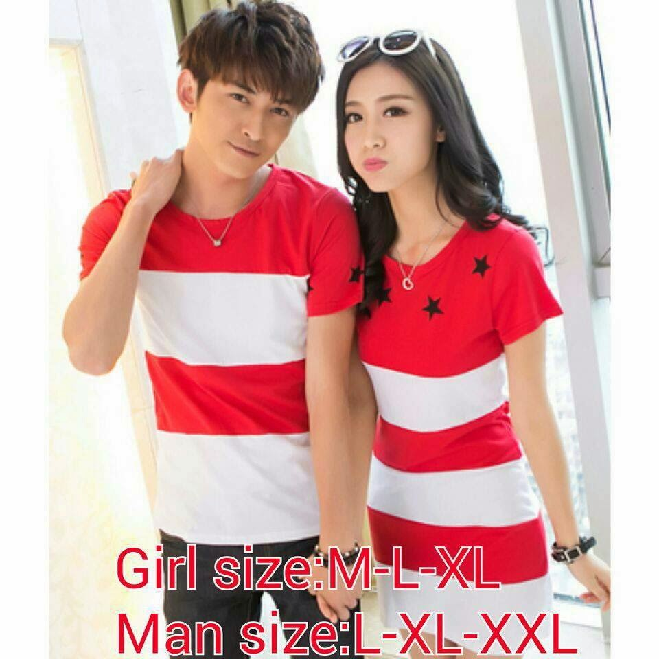 Baju Kaos Couple Warna Pink