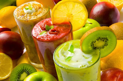 Smoothies to strengthen hair, skin and nails nutritious Silicon  Shake Juice Easy tips Homemade remedies Recipe in english