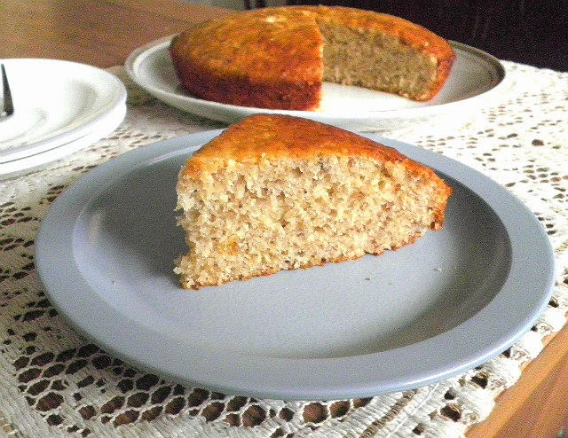 Low fat Banana Cake Eggless