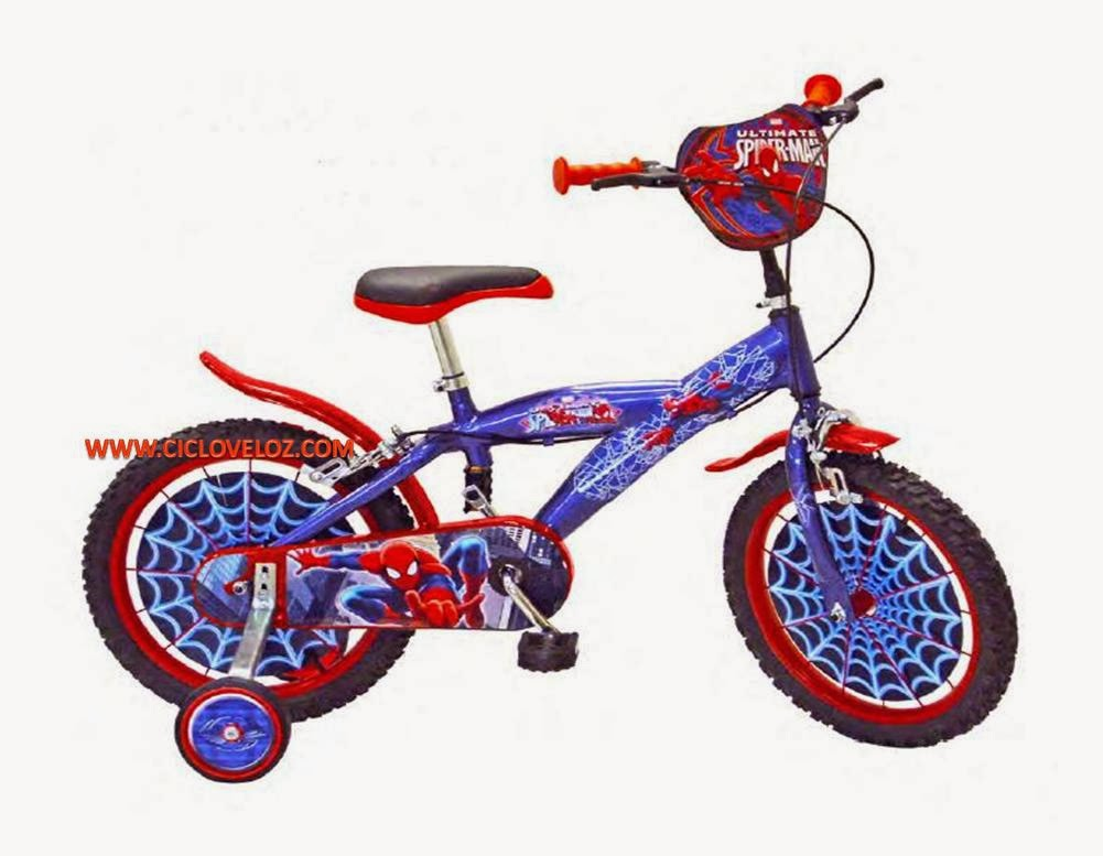 bicicleta spiderman