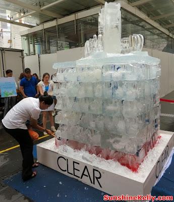 CLEAR Ice Cool Meltdown, Fahrenheit88, Kuala Lumpur, clear shampoo, clear, ice block
