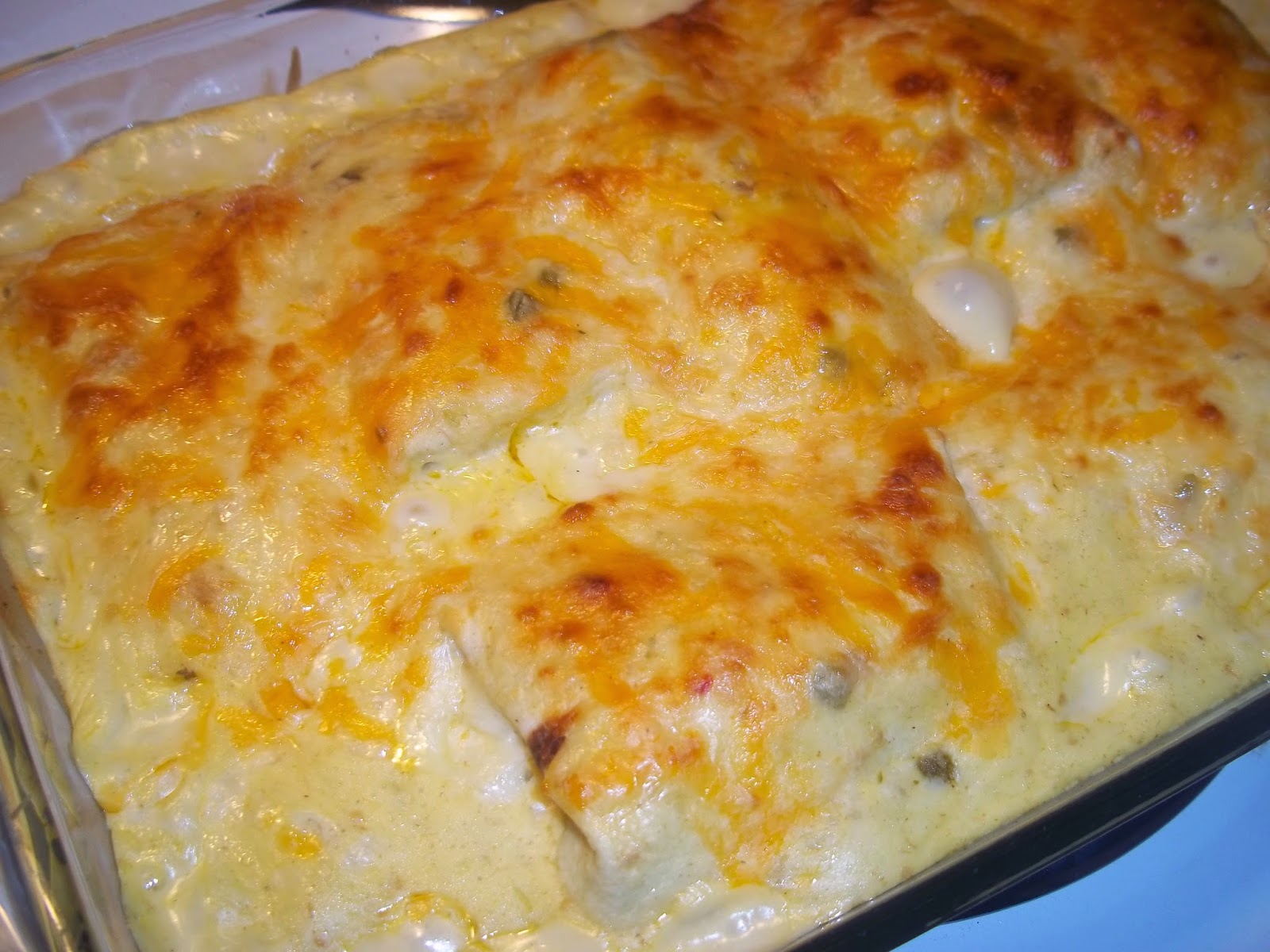 The Daily Smash: Green Chili Chicken Enchiladas