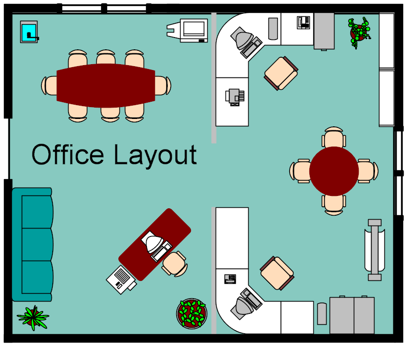 Foundation dezin decor simple office layout for Office desk layout ideas