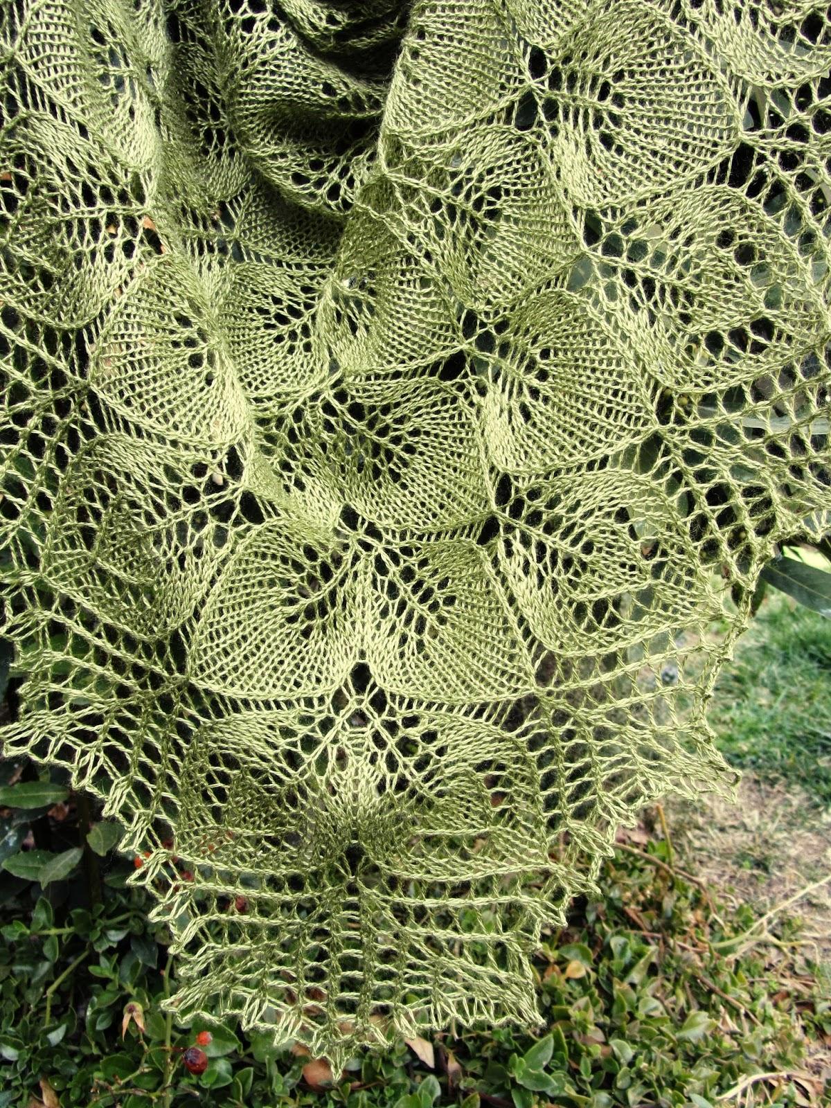 naturalmente lanas: Encaje de seda tejido a dos agujas