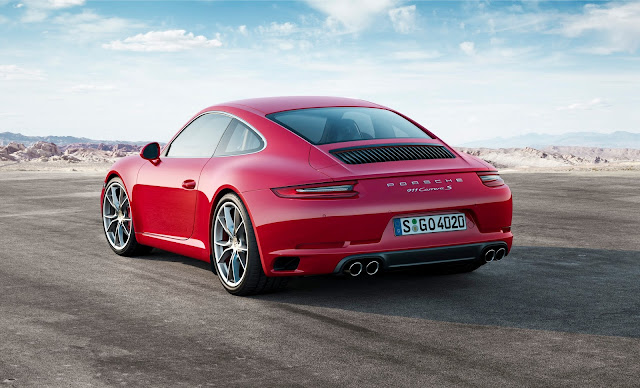 2017 Porsche 911 Carrera s rear red