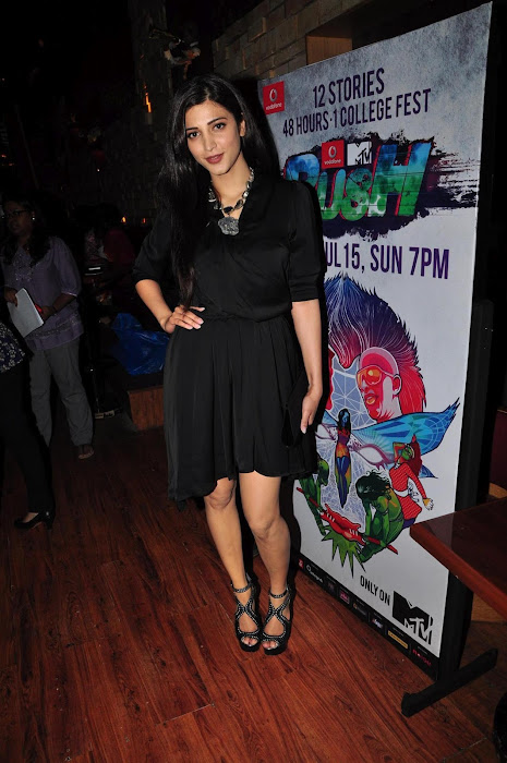 shruti han at the launch of mtv rush. cute stills