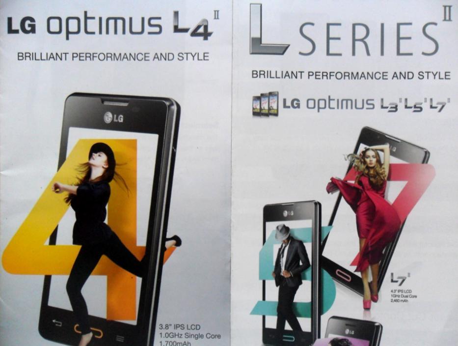 Smartphone LG Optimus L4 II Dual E467 Preto com Tela de  - imagens do celular lg optimus l4