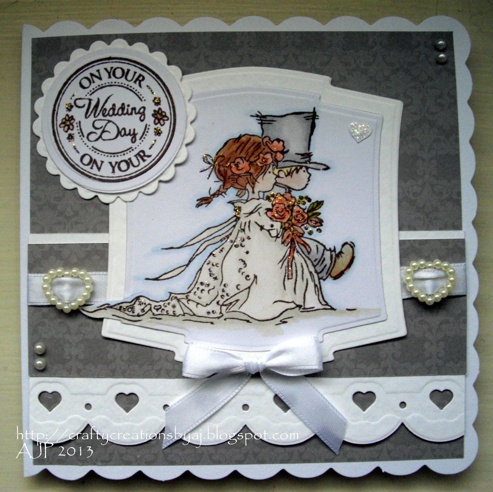 crafty creations by aj lotv wedding card