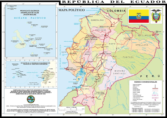 maps ecuador actually