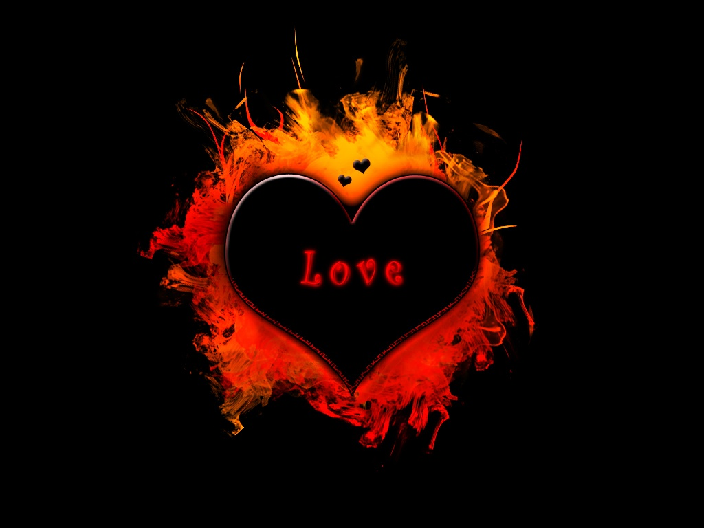 Love in Fire Wallpaper HD