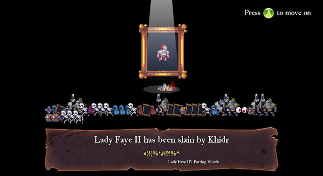 Rogue Legacy game over