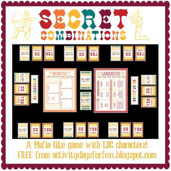 Secret Combinations Game