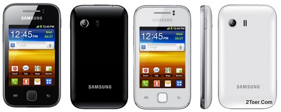 Samsung Galaxy Y GT S5360 Black White Colors