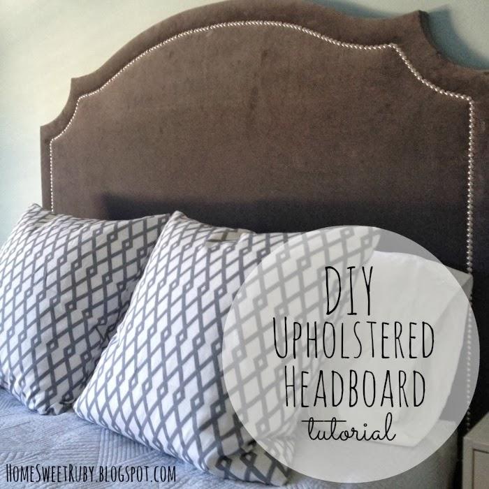 diy upholstered headboard  home sweet ruby, Headboard designs