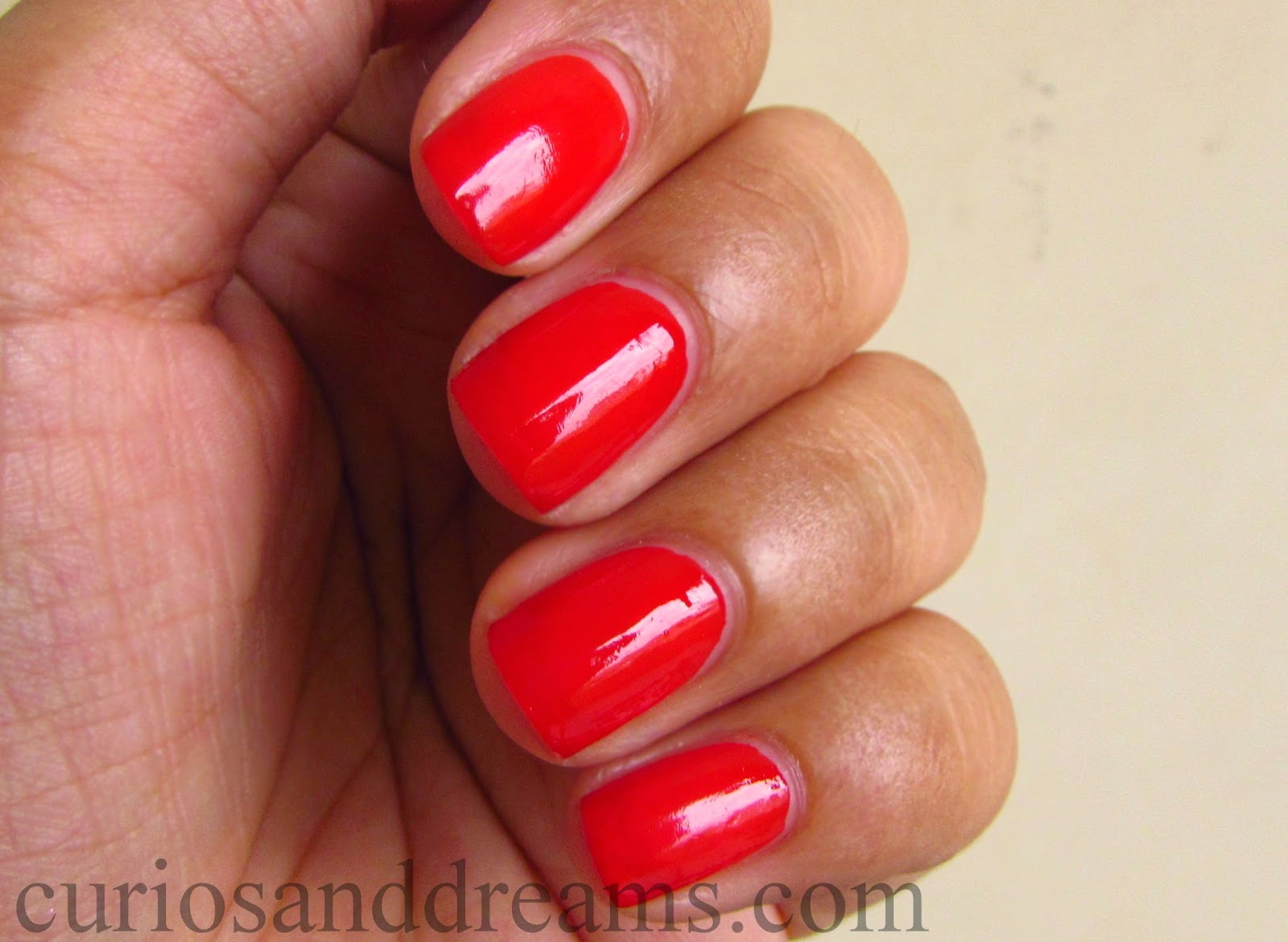 Lakme Absolute Gel Stylist Nail Polish Tomato Tango review