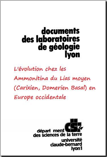 L'évolution chez les Ammonitina du Lias moyen (Carixien, Domerien Basal) en Europe occidentale