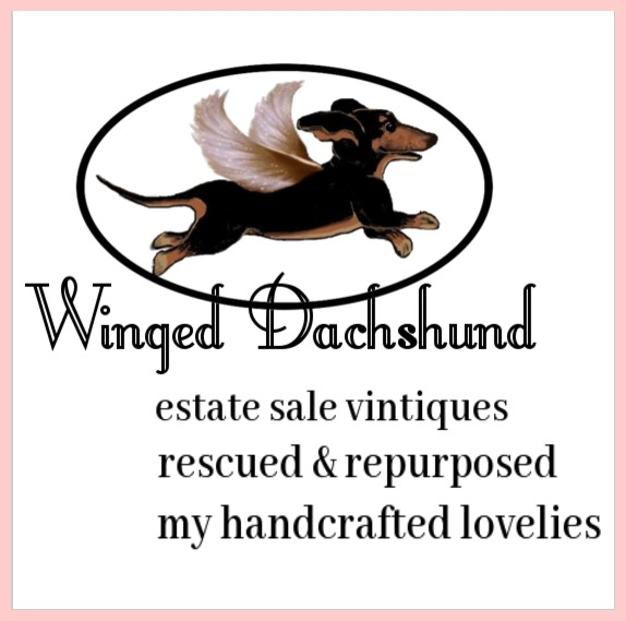 Visit my Etsy Shop WINGEDDACHSHUND scroll down to read more about Millie our mini doxie.