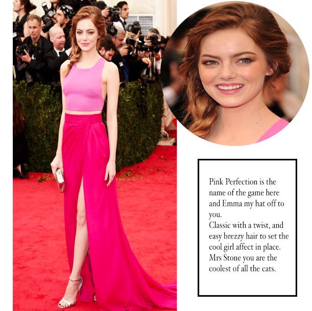 Met Gala 2014 Emma Stone Best Dressed