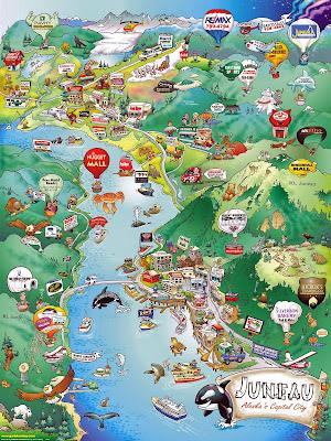 Juneau turistic map - Alaska