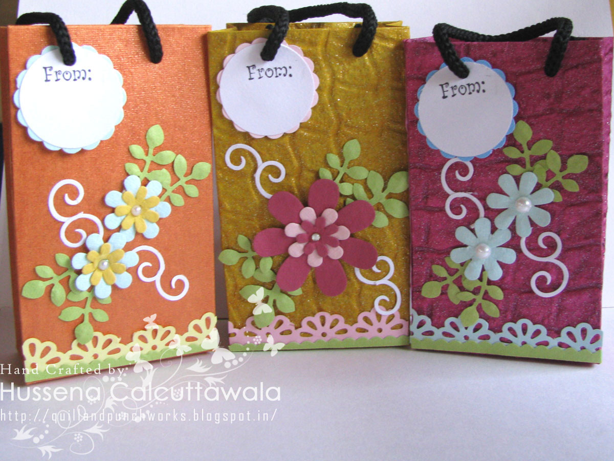 Quill and punch works bags galore for Bag decoration ideas