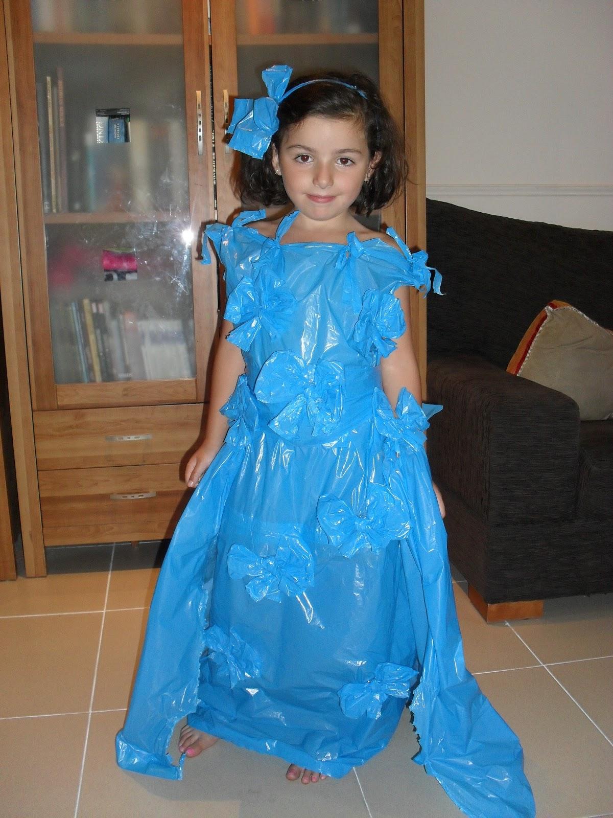 Hacemos un original y barato disfraz de princesa como bolsas de ...