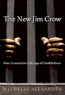 "Book cover: ""The New Jim Crow"" by Michelle Alexander"