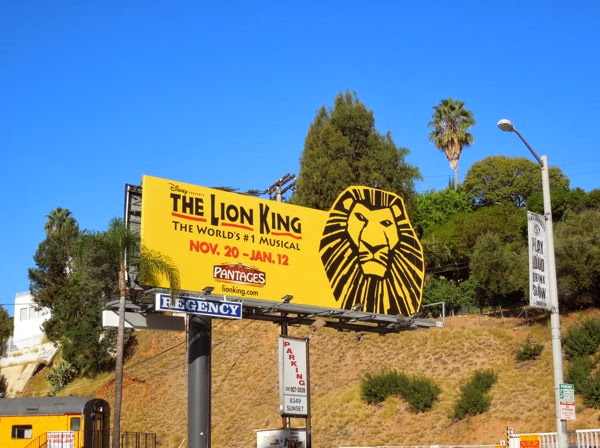 Lion King musical special extension billboard
