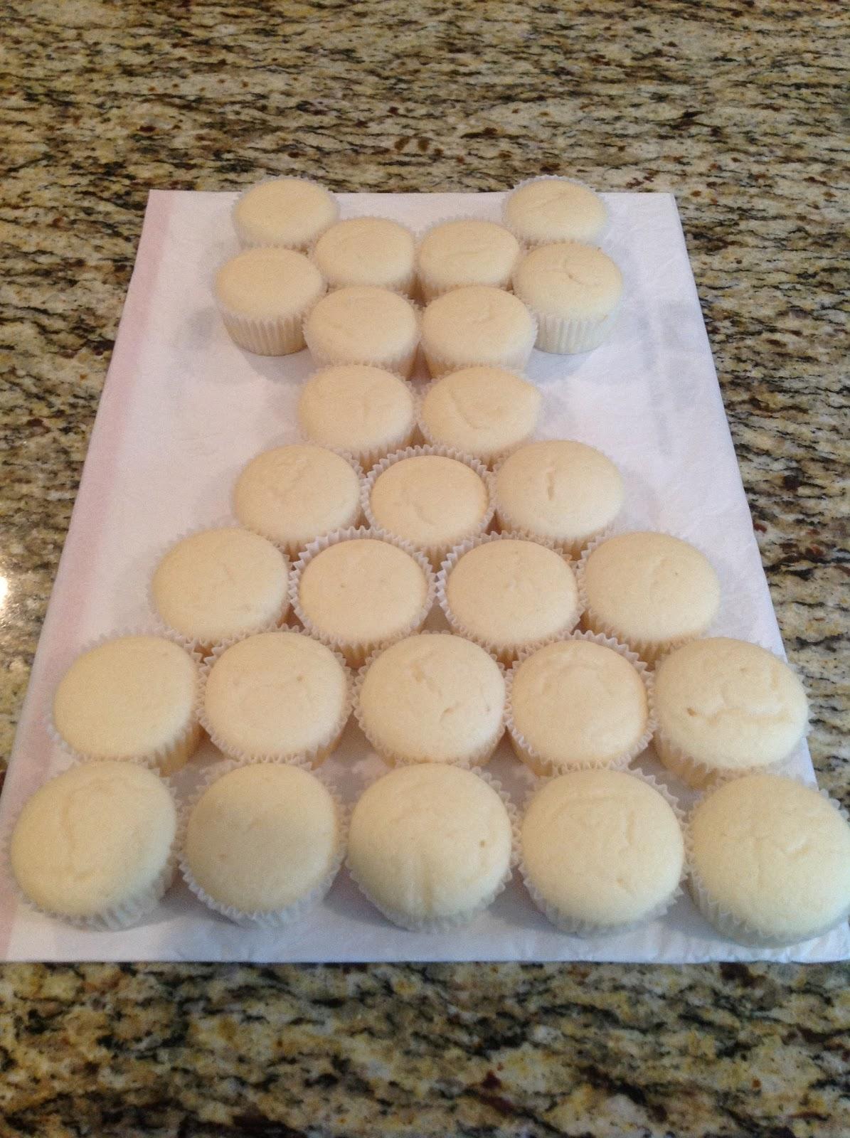 Swirly Sweet Cupcakes Bridal Dress Cupcakes