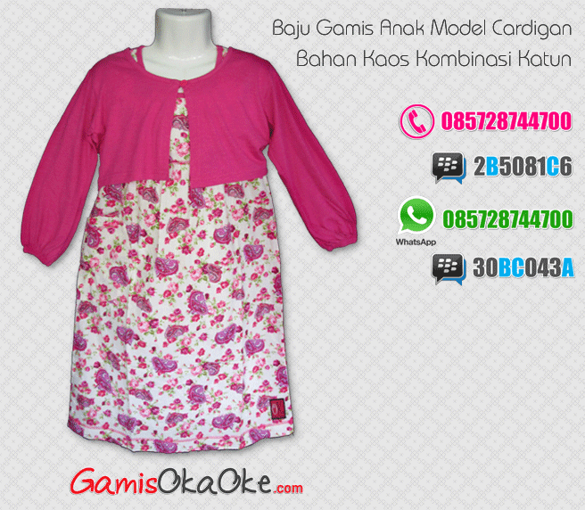 Baju gamis anak perempuan bahan kaos murah dan bagus Baju gamis anak kaos