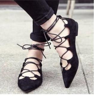 lace up flats banggood