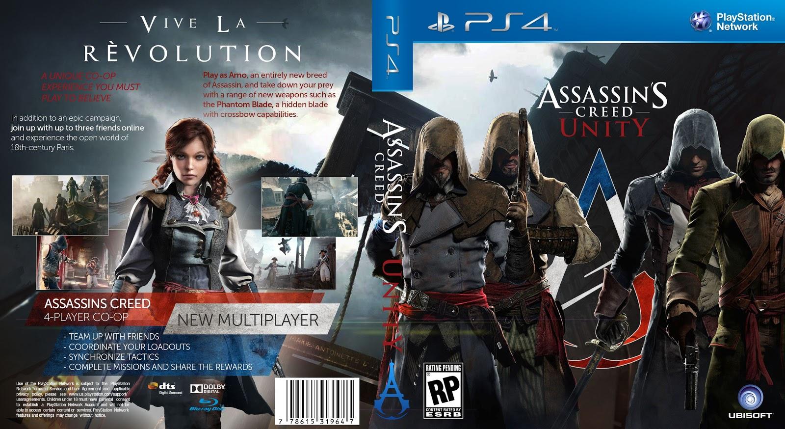 Capa Assassins Creed Unity PS4