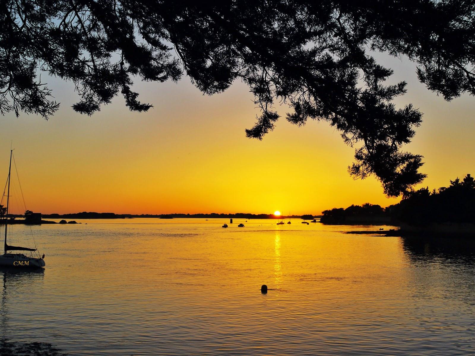 Lucilius coucher de soleil sur le golfe du morbihan - Heure de coucher du soleil 2015 ...