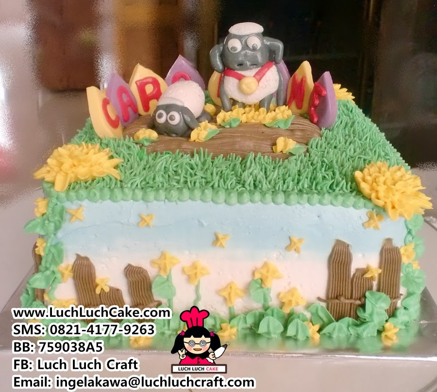 Kue Tart Shaun The Sheep Khusus Daerah Surabaya - Sidoarjo