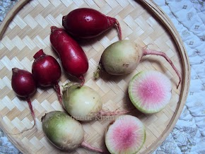 It's a radish...another radish and walnut recipe..