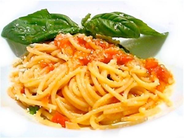 Spaghettini al Pomodoro con Albahaca - Recetas Italianas