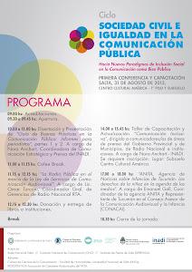 Ciclo Sociedad Civil e Igualdad en la Comunicación Pública