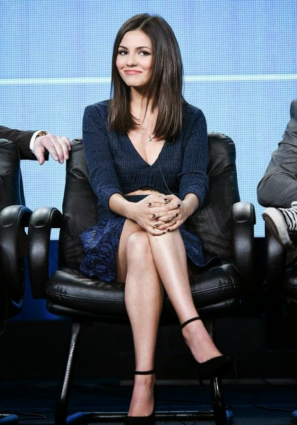 On another opportunity, but still in one place! Victoria Justice looked particularly beauty in a navy dress during her job to promote the New MTV programme, Eye Candy at Los Angeles on Saturday, January 10, 2015.