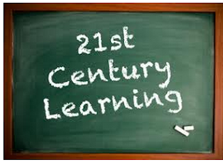 21st Century Living written on a chalkboard
