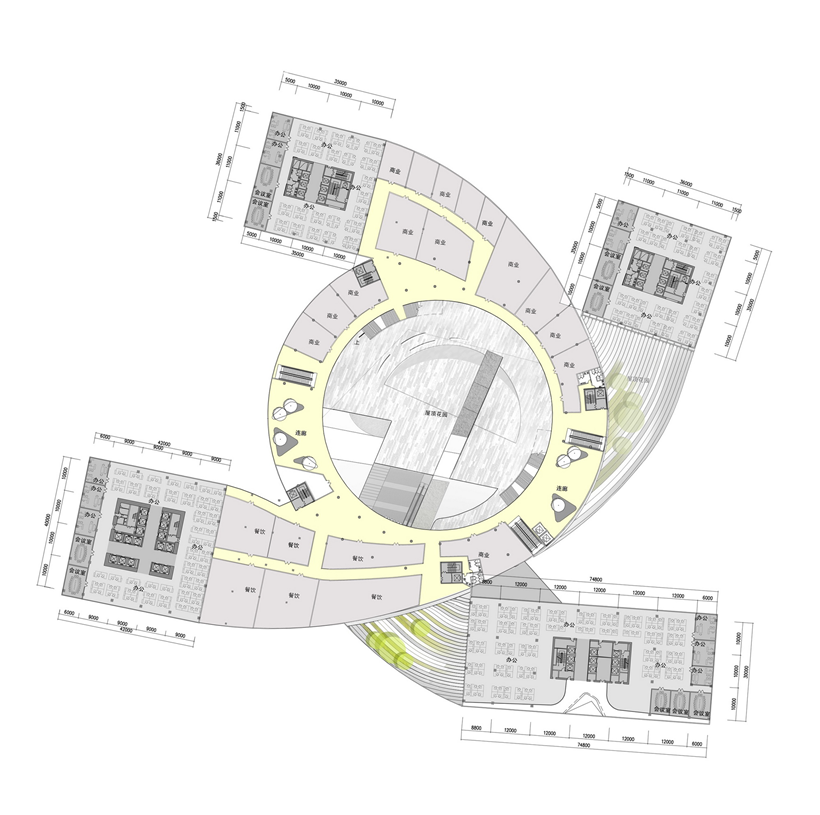 Second floor plan of Impressive Fangda Business Headquarters